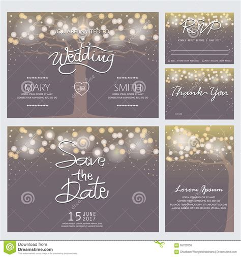 gwen designs card template modern wedding invitation card stock vector illustration