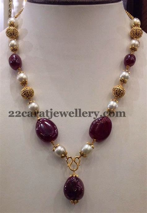 beaded necklace designs jewellery designs 25gms simple sets gallery