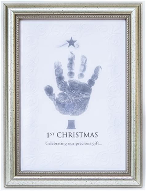 first christmas handprint frame