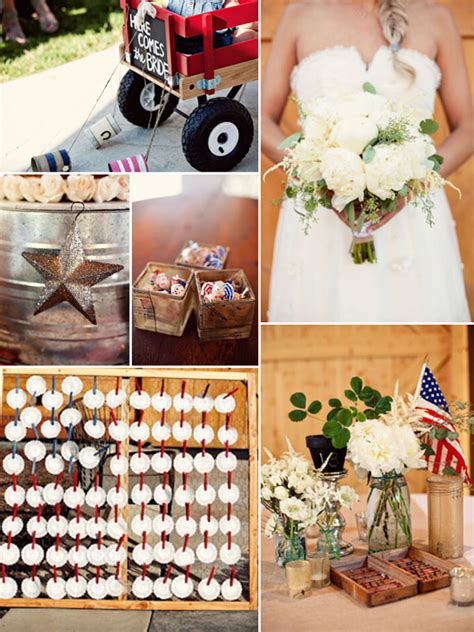 fourth of july inspired wedding ideas and supplies