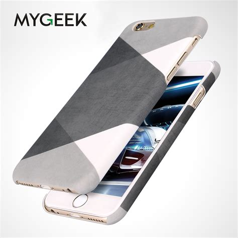For Iphone Anti Acrylic For Iphone 5 5s Se 6 6s 6 7 7 mygeek anti knock plastic cellphone phone for iphone 5 5s se 6 6s 7 plus cellphone