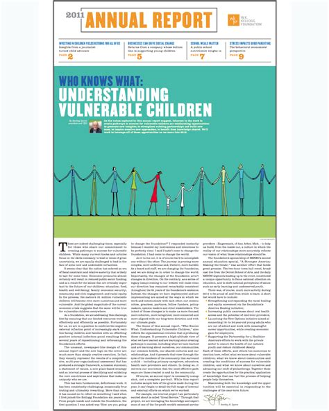 Who Knows What Understanding Vulnerable Children Foundation Annual Report Template