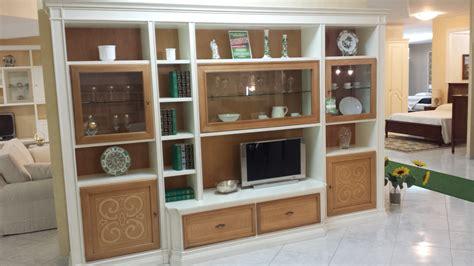 mobili soggiorno legno massello stilema parete attrezzata margot legno massello sottocosto