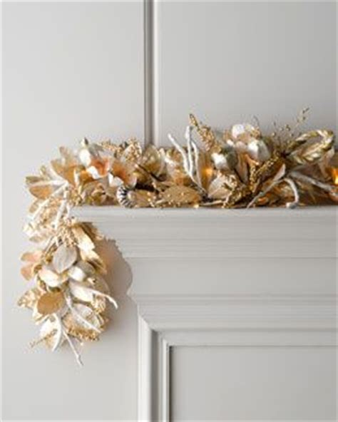 pre lit garland for fireplace quot chagne quot pre lit garland for fireplace