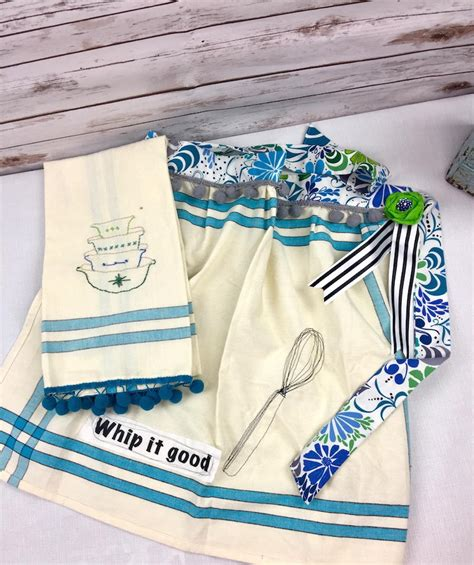 diy dish towel apron favecrafts