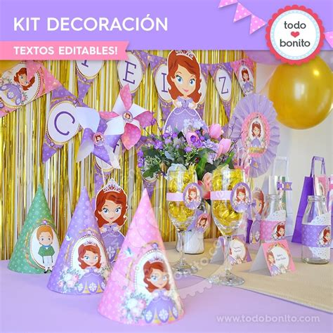 decorar la casa de sofia princesita sofia kit imprimible decoraci 243 n de fiesta