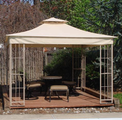 Lowes 10x10 Garden Treasures Gazebo Replacement Canopy S J Patio Gazebo Lowes