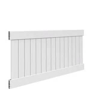 linden home depot veranda linden 4 ft h x 8 ft w white vinyl un assembled