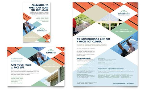 window cleaning pressure washing flyer ad template