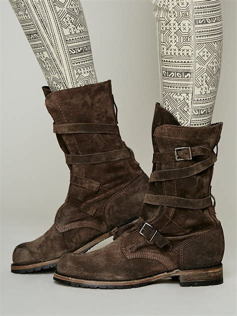 vintage shoe company boots vintage shoe company rayna wrap boot in gray lyst