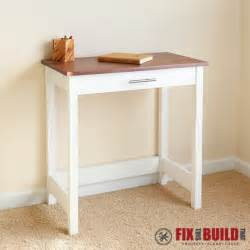 Diy Small Desk White Writing Desk Diy Projects