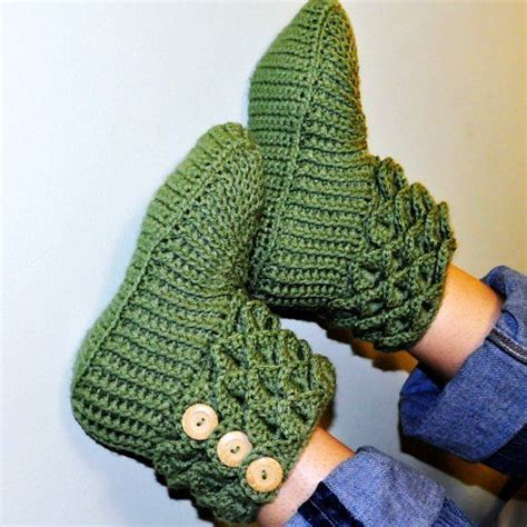 free crochet slipper patterns for adults crochet crocodile stitch boots booties slippers