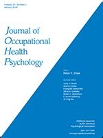 Occupational Health Psychology journal of occupational health psychology