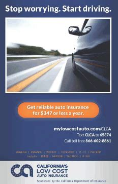 Low Cost Insurance by Consumer California S Low Cost Automobile
