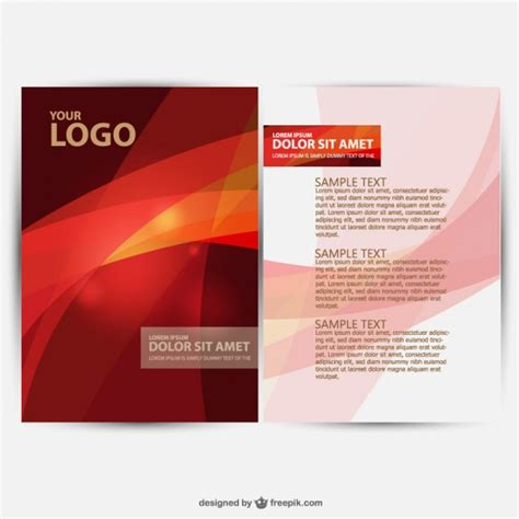 free leaflet design website brochure design vector vector free download