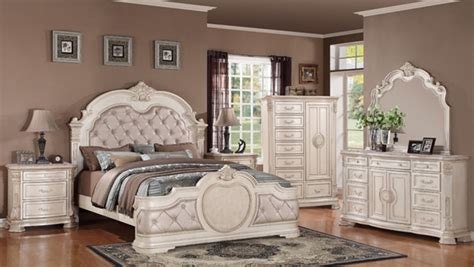white bedroom set king infinity antique 2pc bedroom set w king bed the classy home 17820 | CMS infinity antique 1457601633 a