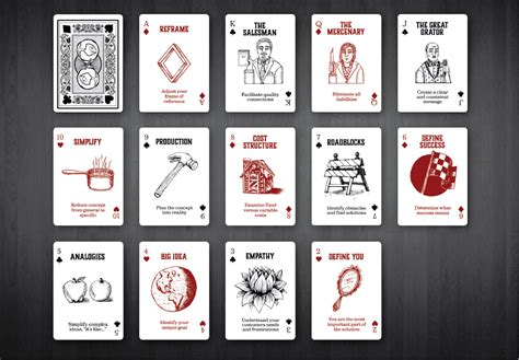 design thinking cards design deck playable inspiration a 52 card design
