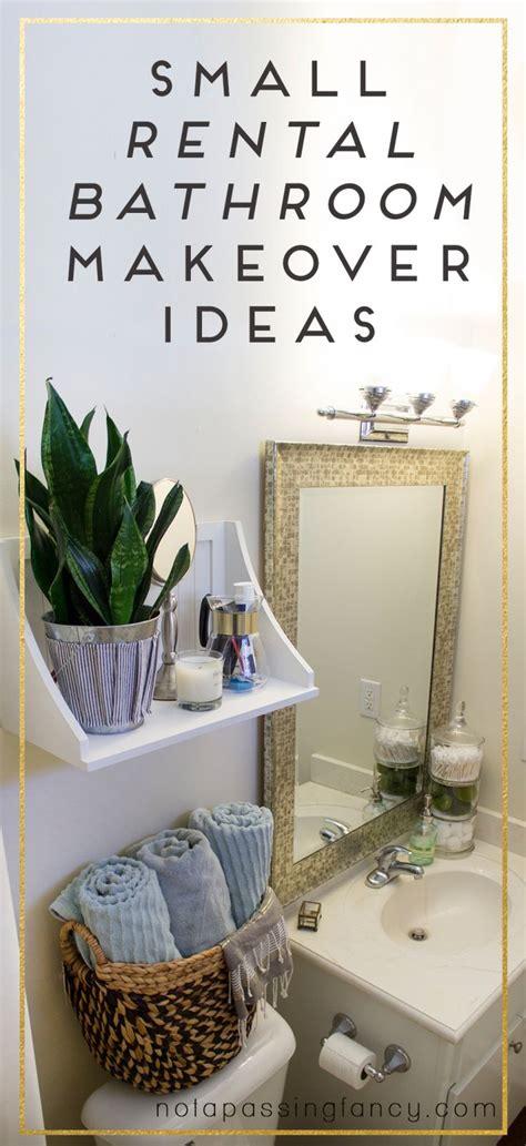 small rental bathroom makeover ideas   passing fancy