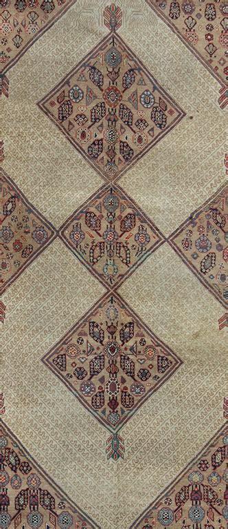 tribal pattern runner antique persian serab runner with tribal geometric pattern
