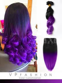 how to color weave black to purple mermaid colorful ombre indian remy