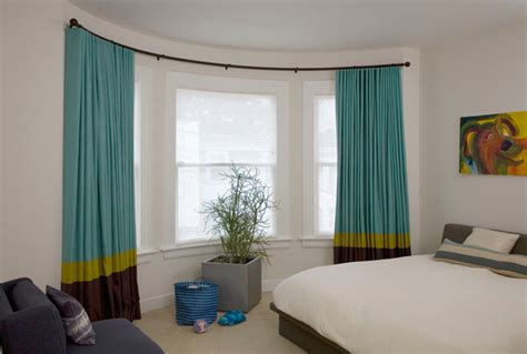 Bow curved and bay window coverings solutions contemporary curtains san francisco by