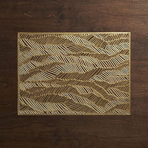 cb2 placemats chilewich 174 drift brass placemat cb2 home decorating