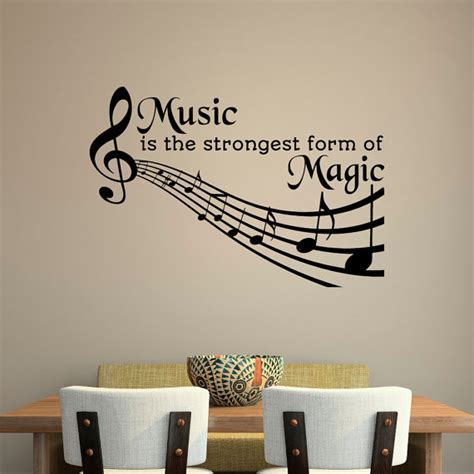 music decals for bedroom music quotes wall decal music is the strongest form of magic