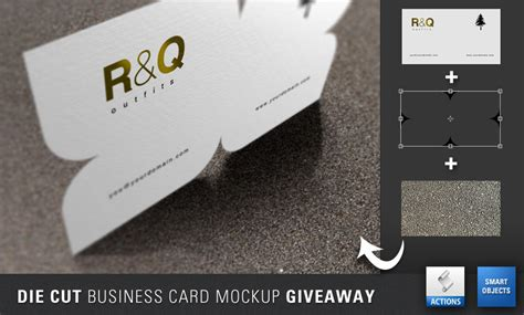 die cut business cards templates 40 free psds and actions for mock ups webdesigner depot