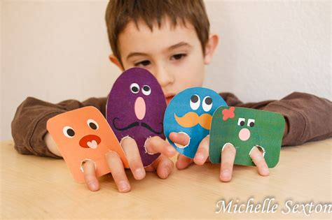 silly crafts for silly shapes finger puppets