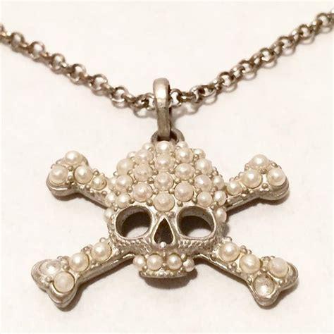 vivienne westwood skull crossbones necklace nvision