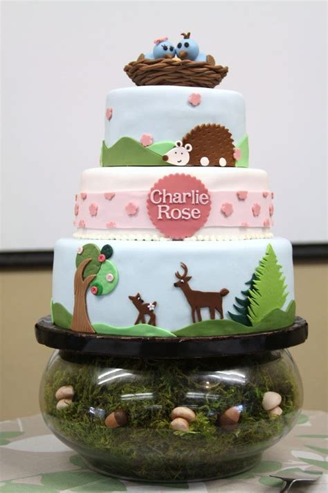 Woodland Critters Baby Shower by Woodland Animals Baby Shower Cake Macs Shower Ideas