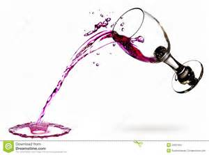 red wine fall over white floor and spill it also create splash wine