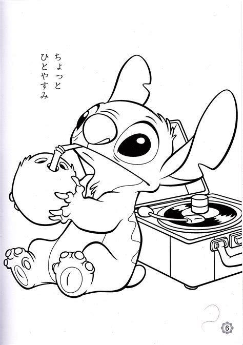 walt disney coloring pages stitch walt disney