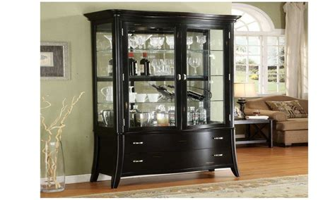 Black office cabinet, black display cabinet black curio