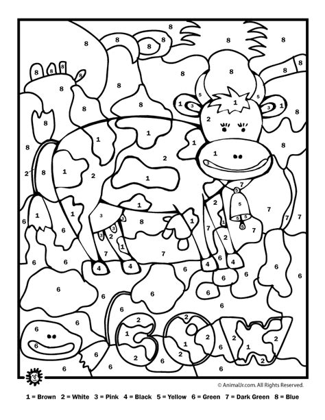 free color by number pages az coloring pages
