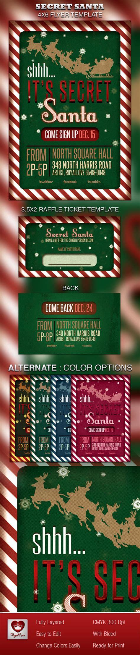 Secret Santa Flyer Raffle Ticket On Behance Secret Santa Flyer Templates