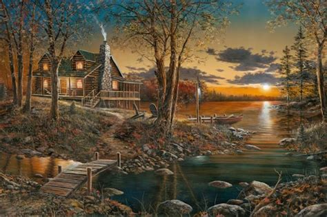 comforts of home art country canada jim hansel giclee canvas