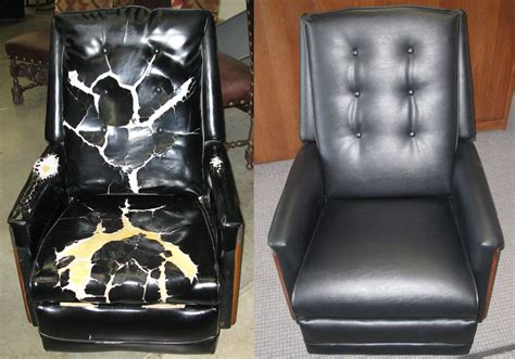 leather recliner sofa repair upholstery ackerman s furniture service
