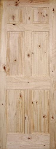 6 Panel Knotty Pine Interior Doors Discount 6 8 Quot 6 Panel Knotty Pine Interior Wood Door Slab