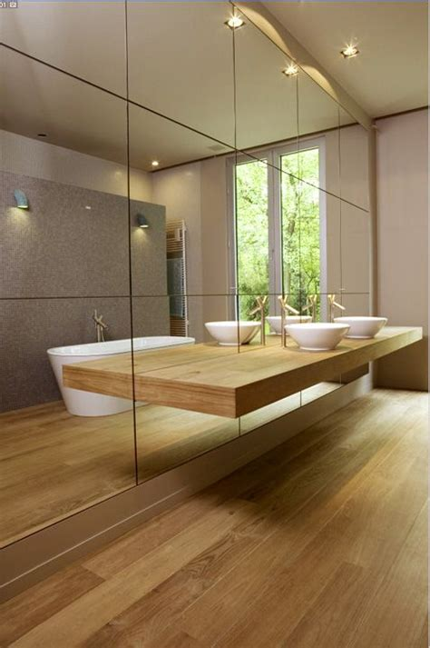 Mirrored Bathroom Wall Yes Or No Timber Floors In Bathrooms Gt Of Sterling Interiors