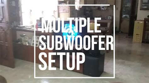 home theater multiple subwoofer setup youtube