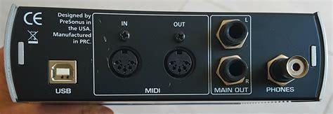 Audiobox Usb audiobox usb presonus audiobox usb audiofanzine