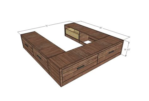 Bed Plans With Drawers by White Build A Scrap Wood Storage Bed With