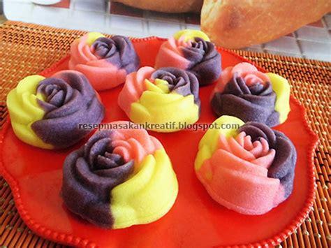 cara membuat kue bolu gulung kukus rainbow resep bolu kukus mawar santan lembut aneka resep masakan