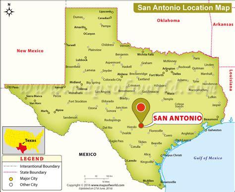 san antonio usa map where is san antonio where is san antonio located