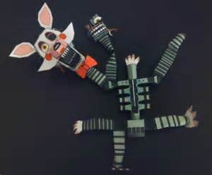 Five nights at freddy s 2 mangle papercraft idea by adogopaper