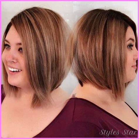plus size bob hairstyles best haircut for double chin motavera com