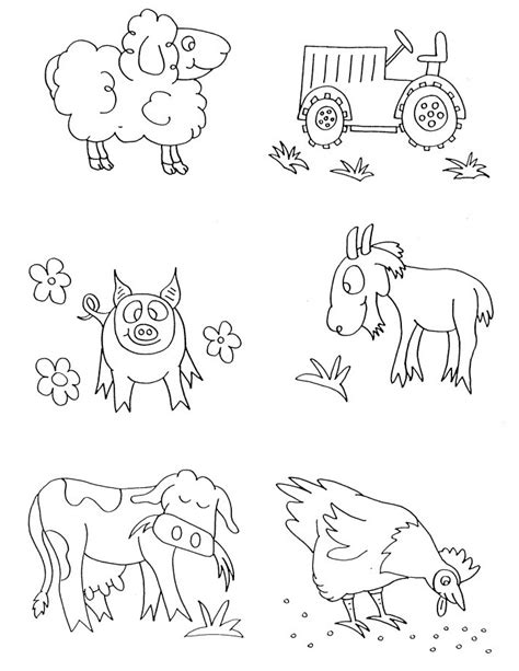 farm animals coloring pages preschool free farmyard animals coloring pages