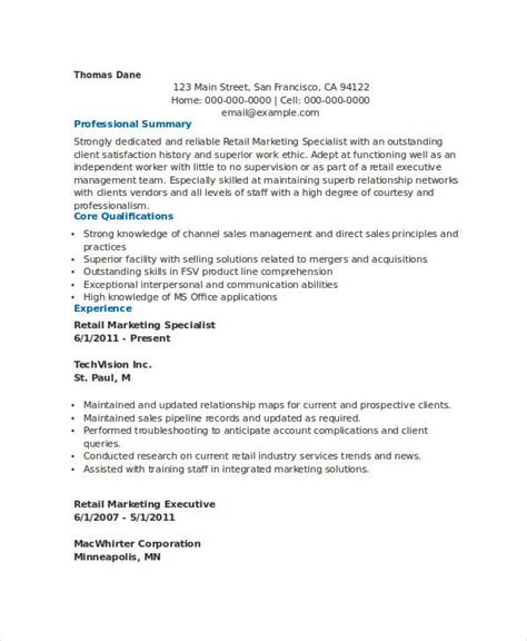 Marketing Specialist Resume by Marketing Resume Sles For Successful Hunters