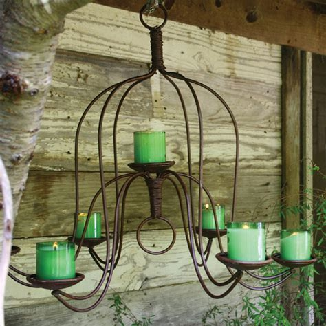 large iron chandelier eclectic outdoor hanging lights
